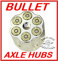 Bullet .357 Mag Harley Front Axle Covers