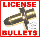 Bullet License Bolts w/Bullet Tips