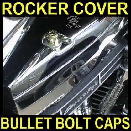 Bullet Caps for Harley Rocker Cover Bolts