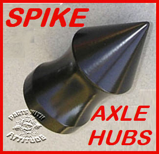 Black Spike Front Axle Covers