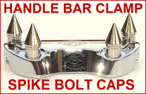 Chrome Spike Handle Bar Clamp Bolt Caps