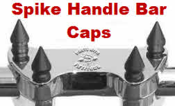 Black Spike Handle Bar Clamp Bolt Caps