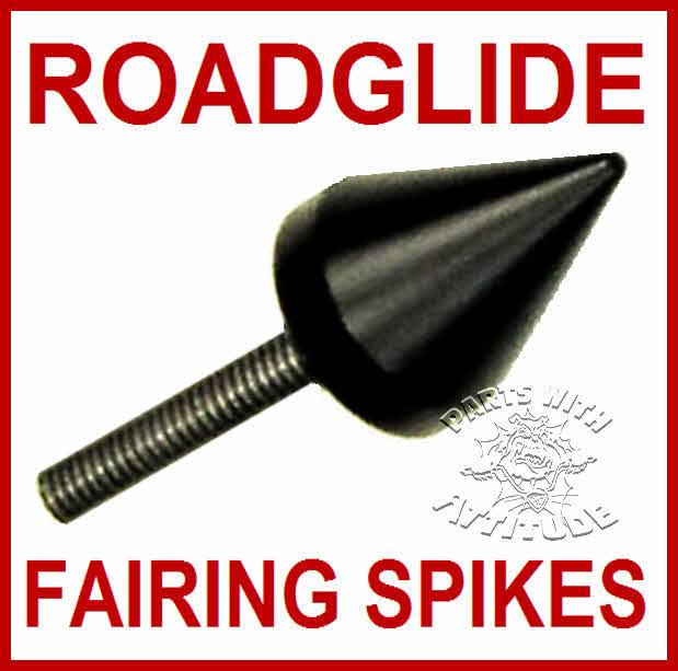 Black Spike Roadglide Windshield Fairing bolts