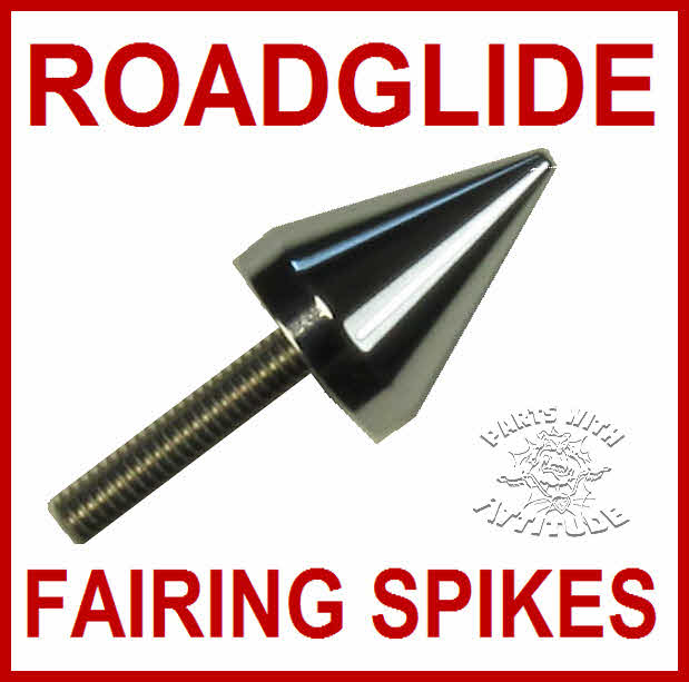 Chrome Roadglide Windshield Fairing Spike Bolts