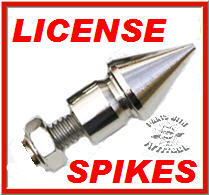 Chrome Spike License Bolts (TALL)